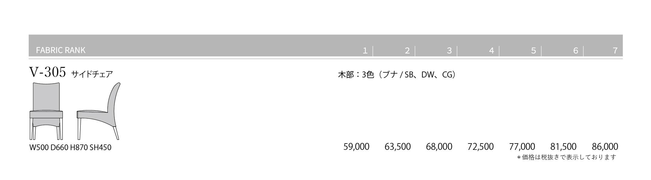 V-305 Price List