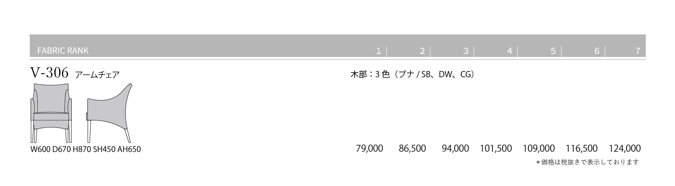 V-306 Price List