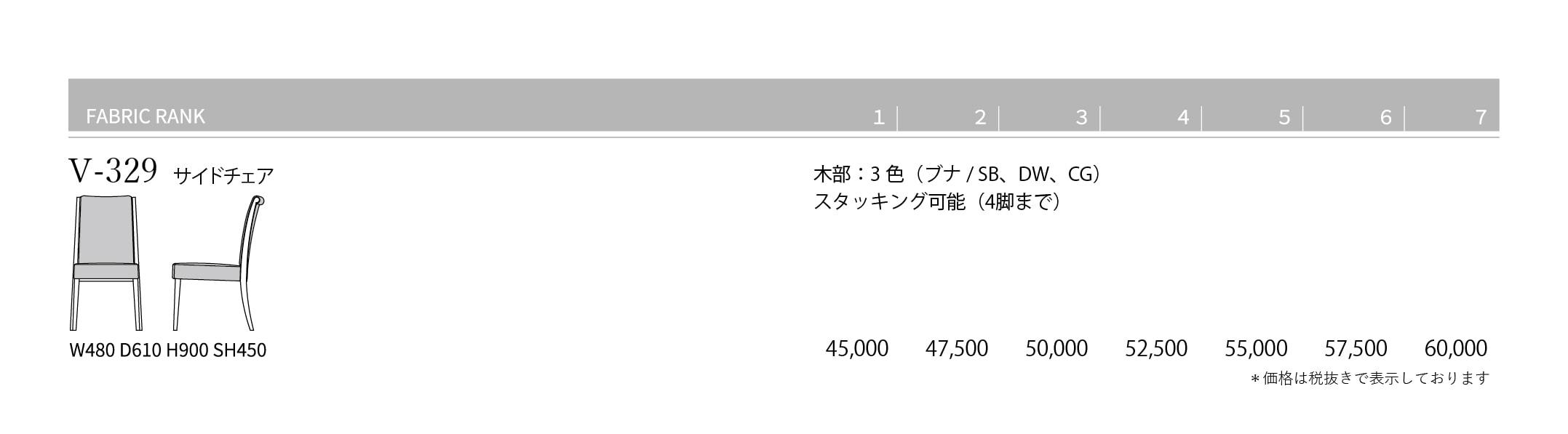 V-329 Price List