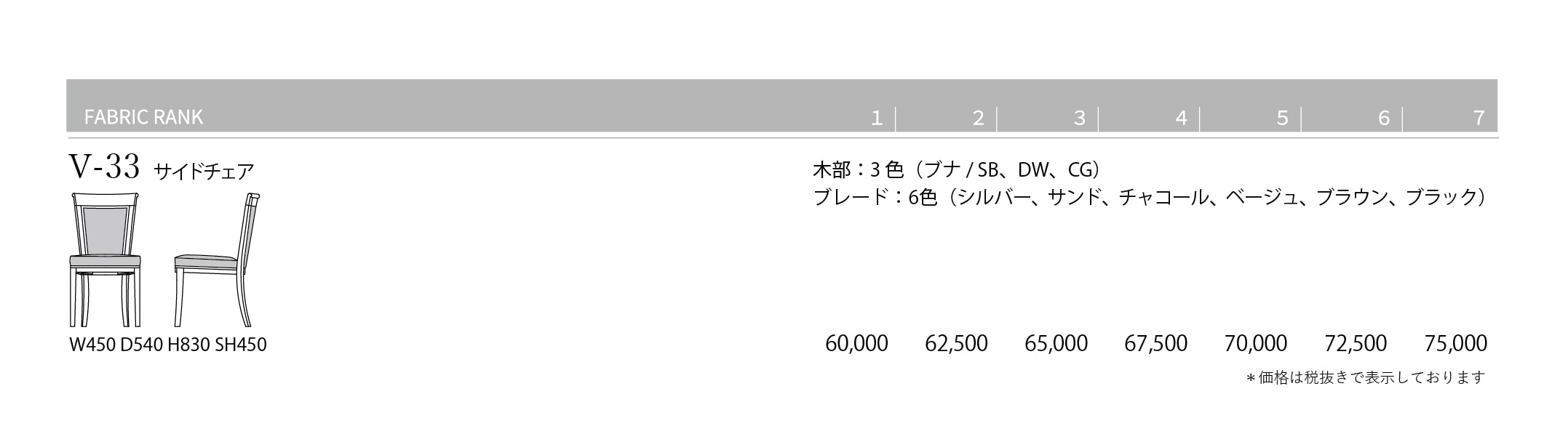 V-33 Price List