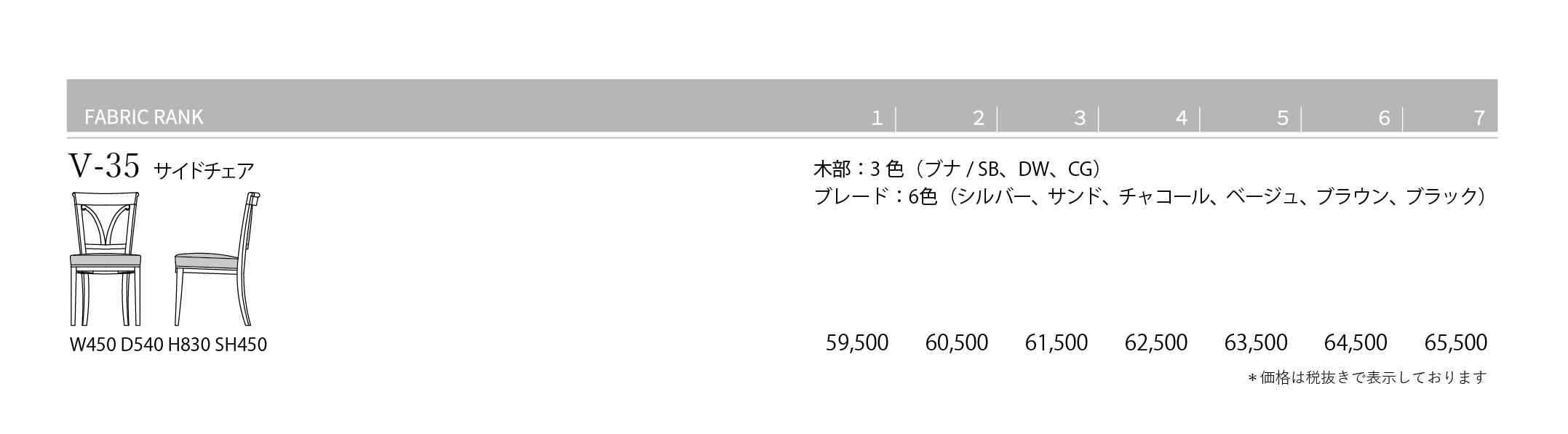 V-35 Price List