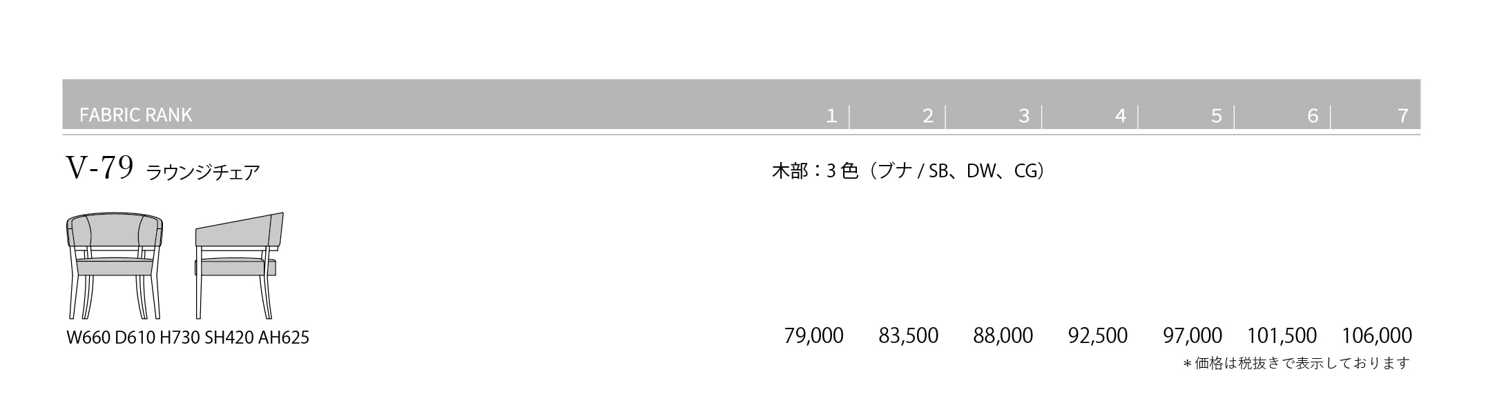V-79 Price List